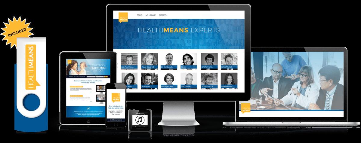 HealthMeans 7 Day Site - Online + Flash Drive Access